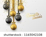french joyeuse nouvelle annee.... | Shutterstock .eps vector #1165042108