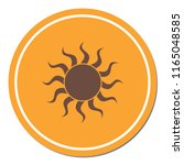 sun stylized image icon. vector ... | Shutterstock .eps vector #1165048585