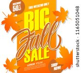 big fall sale banner for autumn ... | Shutterstock .eps vector #1165051048