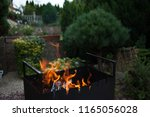 barbecue area in the backyard | Shutterstock . vector #1165056028