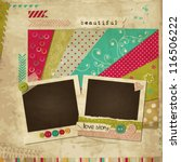 scrap template of vintage worn... | Shutterstock .eps vector #116506222