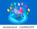 device with character concept.... | Shutterstock .eps vector #1165062295