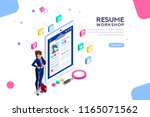 web page  banner for resume... | Shutterstock .eps vector #1165071562