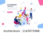 analyst  financial banner.... | Shutterstock . vector #1165073488