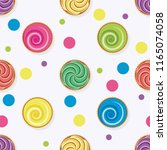 vector seamless background with ... | Shutterstock .eps vector #1165074058