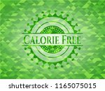 calorie free green emblem with... | Shutterstock .eps vector #1165075015