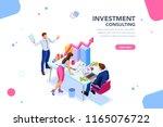 business adviser team.... | Shutterstock . vector #1165076722