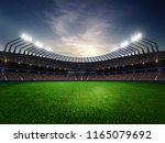 stadium sunset  with people... | Shutterstock . vector #1165079692