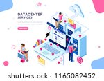 internet datacenter connection  ... | Shutterstock . vector #1165082452
