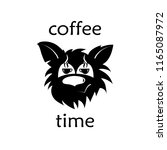 coffee time in front of the cat. | Shutterstock .eps vector #1165087972