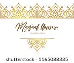 vector set of golden seamless... | Shutterstock .eps vector #1165088335
