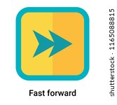 fast forward icon vector... | Shutterstock .eps vector #1165088815
