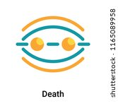death icon vector isolated on... | Shutterstock .eps vector #1165089958