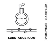 substance icon vector isolated... | Shutterstock .eps vector #1165091605