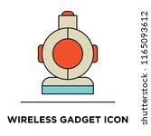 wireless gadget icon vector...   Shutterstock .eps vector #1165093612