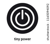 tiny power icon vector isolated ... | Shutterstock .eps vector #1165094092