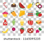 set of 20 transparent icons... | Shutterstock .eps vector #1165095235