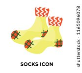socks icon vector isolated on... | Shutterstock .eps vector #1165096078