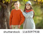 beautiful fashionable children   | Shutterstock . vector #1165097938