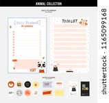 set of planners and to do lists ... | Shutterstock .eps vector #1165099168