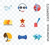 set of 9 transparent icons such ... | Shutterstock .eps vector #1165099372