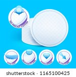 layered extra soft cosmetic... | Shutterstock .eps vector #1165100425
