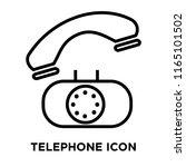 telephone icon vector isolated...