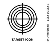 target icon vector isolated on... | Shutterstock .eps vector #1165101658