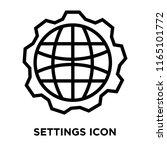 settings icon vector isolated... | Shutterstock .eps vector #1165101772