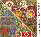 vector patchwork quilt pattern. ... | Shutterstock .eps vector #1165103152