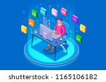device with character concept.... | Shutterstock . vector #1165106182