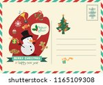 merry christmas and happy new... | Shutterstock .eps vector #1165109308