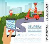 order delivery online. shipment ... | Shutterstock .eps vector #1165110205