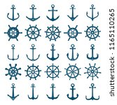 wheels ship anchors icon.... | Shutterstock .eps vector #1165110265