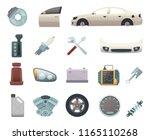 car parts. automobile creation...   Shutterstock .eps vector #1165110268