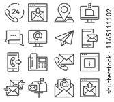 contact us gray line icons for... | Shutterstock .eps vector #1165111102