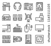 computer hardware icons set. pc ... | Shutterstock .eps vector #1165111105