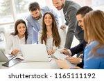 startup business team on... | Shutterstock . vector #1165111192