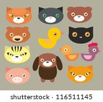pets faces   3 | Shutterstock .eps vector #116511145