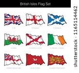british isles waving flag set.... | Shutterstock .eps vector #1165114462