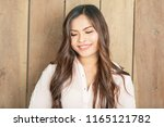beautiful girl with bright... | Shutterstock . vector #1165121782
