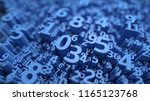 Abstract 3d Numbers Background...