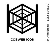 cobweb icon vector isolated on... | Shutterstock .eps vector #1165124692