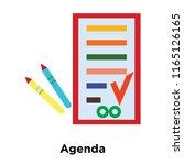 agenda icon vector isolated on... | Shutterstock .eps vector #1165126165