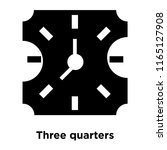 three quarters icon vector... | Shutterstock .eps vector #1165127908