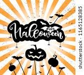 halloween party card  banner ... | Shutterstock .eps vector #1165128385