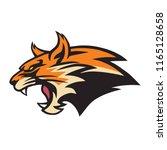 angry lynx wildcat logo mascot... | Shutterstock .eps vector #1165128658