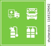 4 paramedic vector icon set... | Shutterstock .eps vector #1165129042