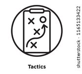 tactics icon vector isolated on ... | Shutterstock .eps vector #1165133422