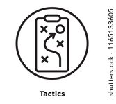 tactics icon vector isolated on ... | Shutterstock .eps vector #1165133605